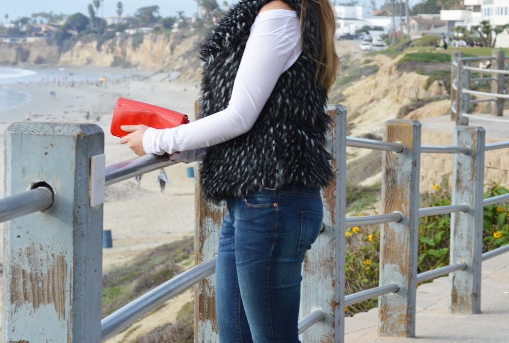 Faux Fur & Clouds by the Beach