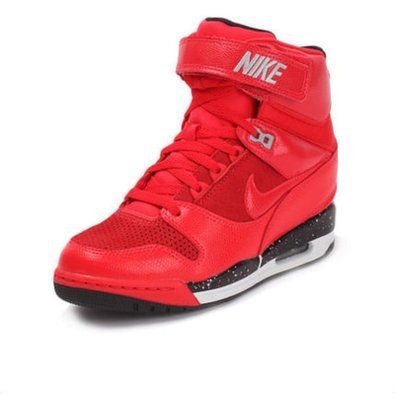 new product bbc61 ab4ac Nike Air Revolution Sky Hi Wedge Heel Sneaker Review