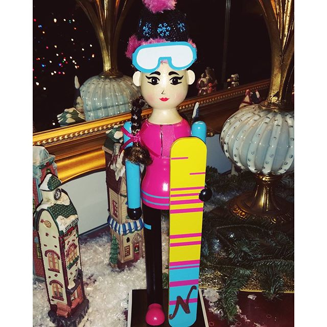 customized nutcracker, eye makeup on point