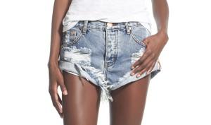 distressed denium shorts