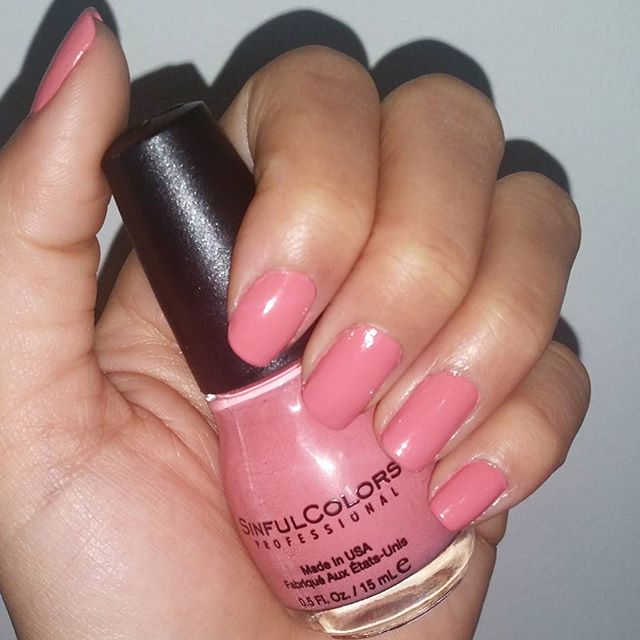 "I love the feeling of freshly painted pretty nails    this @sinfulcolors_official color is called ""soul mate"""