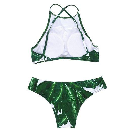 b7d80f8fae Tropical High Neck Bikini Set - Cat Eyes   Candy - Fashion
