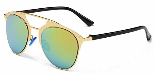 85e3e2795 Metal Double Crossbar Aviator Sunglasses - Green Mirrored - Cat Eyes &  Candy - Fashion, Beauty, & Style Blog and Online Boutique