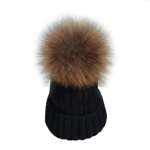 black-beanie-with-fur-pom-pom