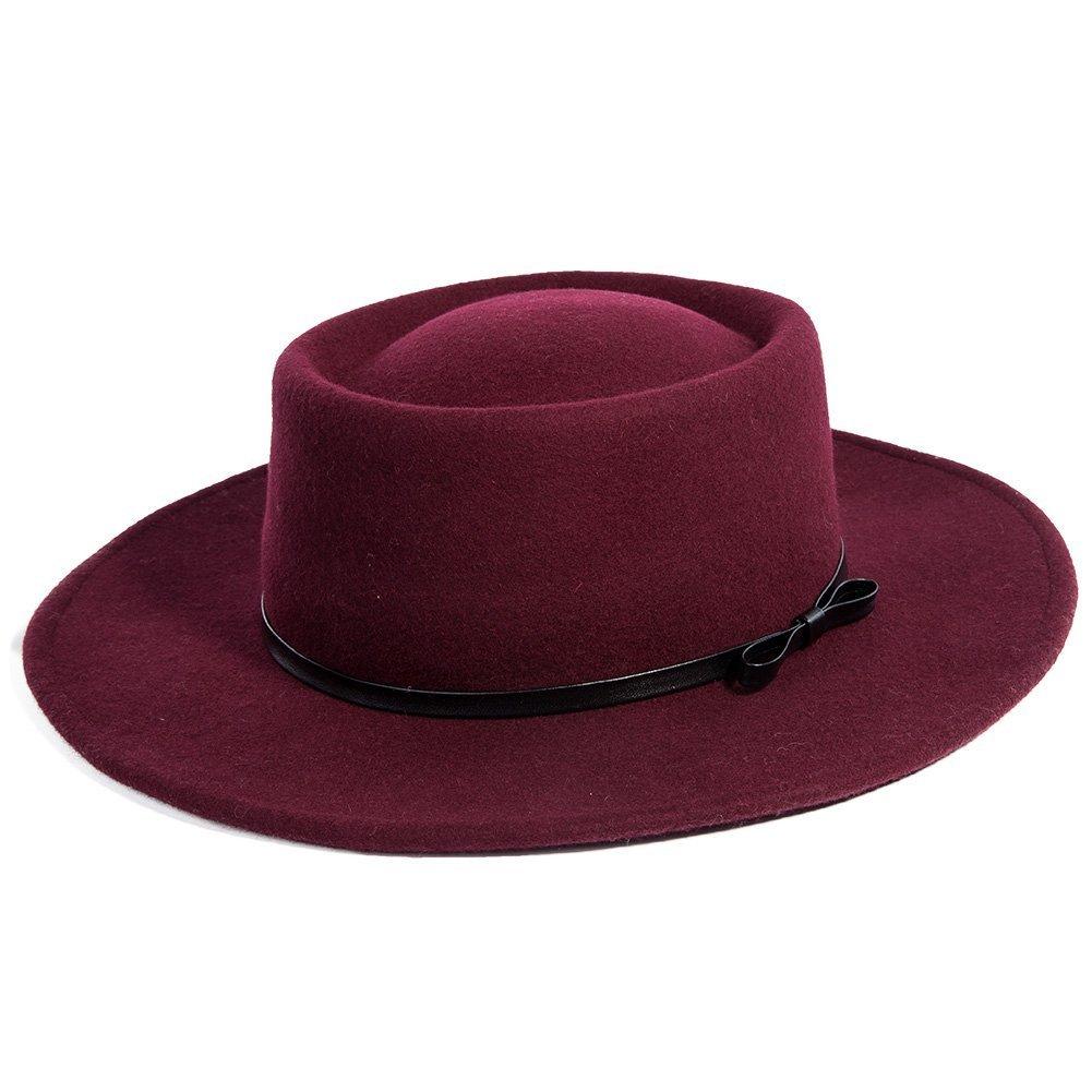 9a3fab2a8c4 Burgundy Wool Wide Brim Hat - Cat Eyes   Candy - Fashion