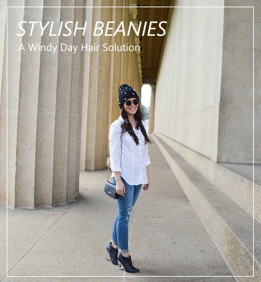 Stylish Beanies, A Windy Day Hair Solution