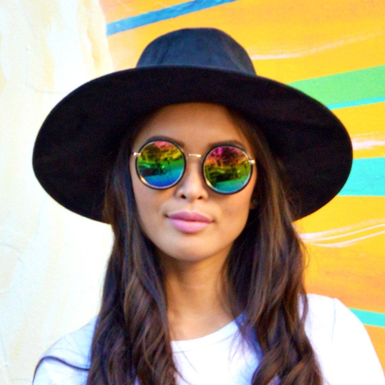c26092371f0 Round Rainbow Mirrored Sunglasses - Cat Eyes   Candy - Fashion ...