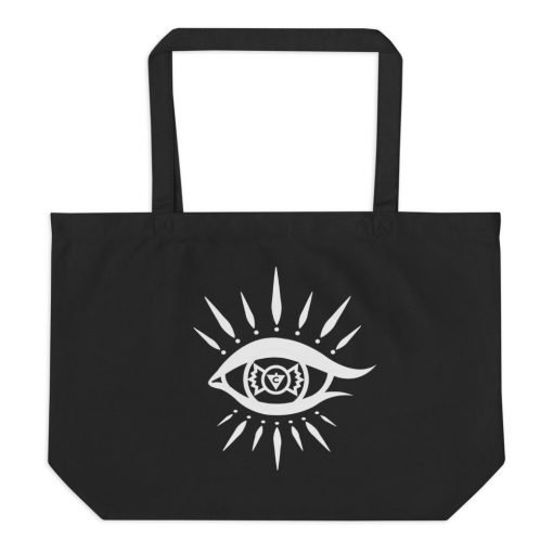 Cat Eyes and Candy Large Tote Bag