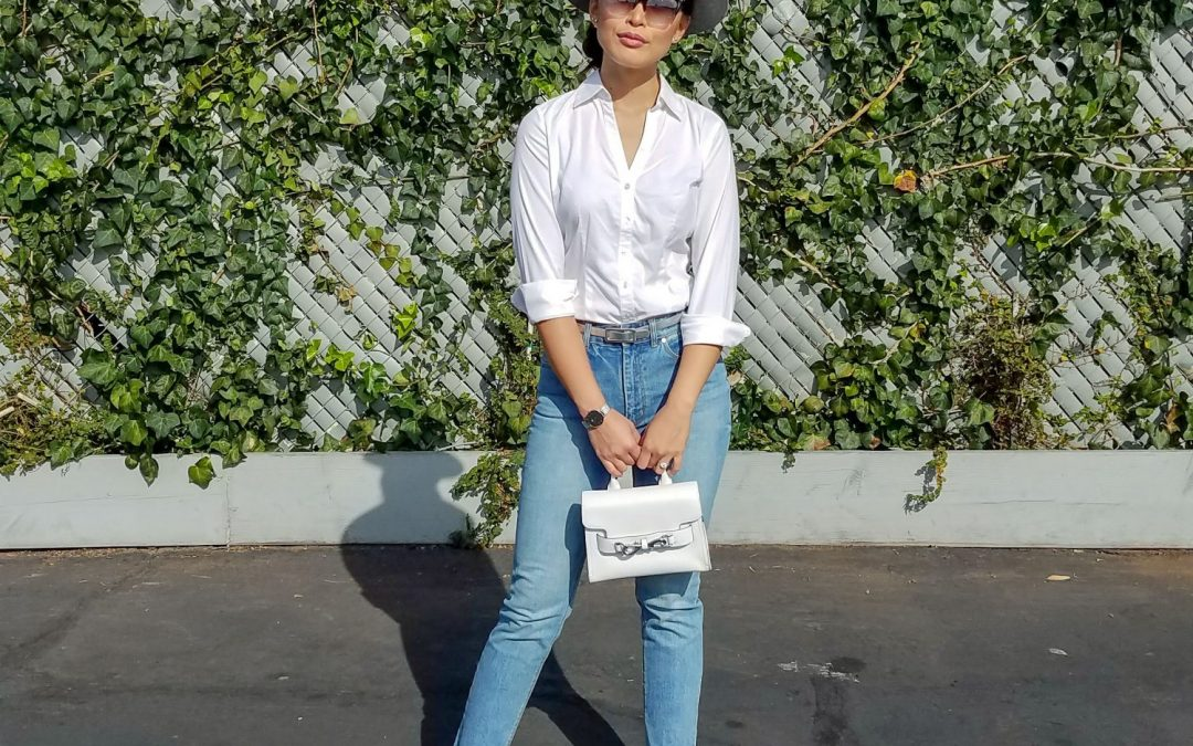 Styling a Classic White Button-Up