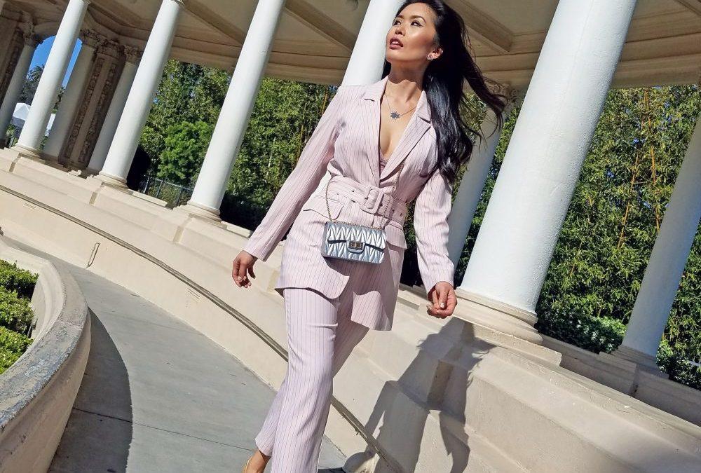 Pink Crop Suit Set