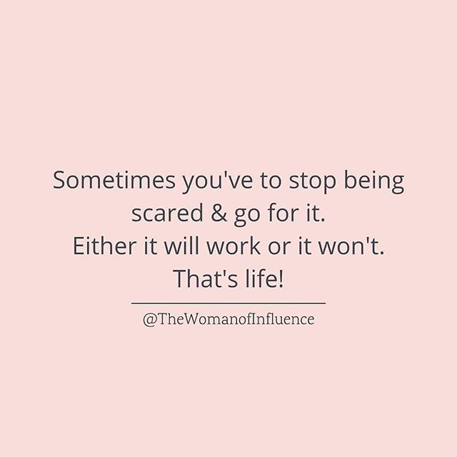Sometimes we just gotta go for it even if it scares us  There is a fear of the unknown and a fear of failure, we need to rewire ourselves to see them as something to overcome in order to grow. #inspoquotes #personalgrowth #personalgrowthjourney #womeninbusiness #empowerment #workinprogress #continuousimprovement #womanofinfluence #girlboss #motivationalquotes #candoattitude #mindsetmatters #positivepeople #positivemindset (@CatEyesAndCandy on IG)
