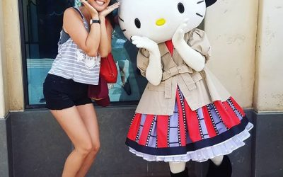"You can't be forever young but you can be young at heartStriking a pose with the Queen of Kawaii, Ms Hello Kitty.  Loved learning about the @hellokitty story on @Netflix's ""the toys that made us"" #inspired #youngatheart #hellokitty #hellokittylover #hellokittymania #kawaii #superkawaii #thetoysthatmadeus (@CatEyesAndCandy on IG)"