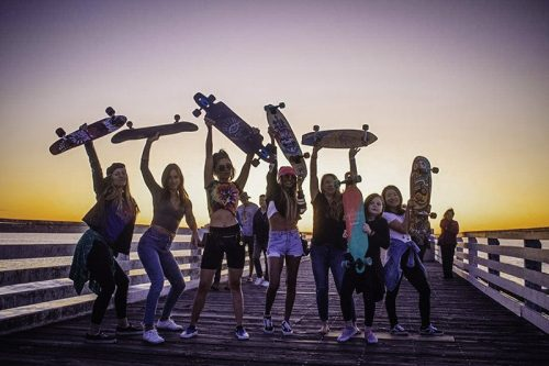 Sunset Beach Skate with BabesnBoards