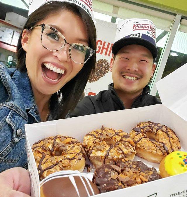 Bday donuts for my fav broski, happy birthday bro! 🥳🕺 #krispetycrunchety #butterfinger #krispykreme #krispykremesponsorme #sponsormekrispykreme #bday #birthday #bdayboy (@CatEyesAndCandy on IG)