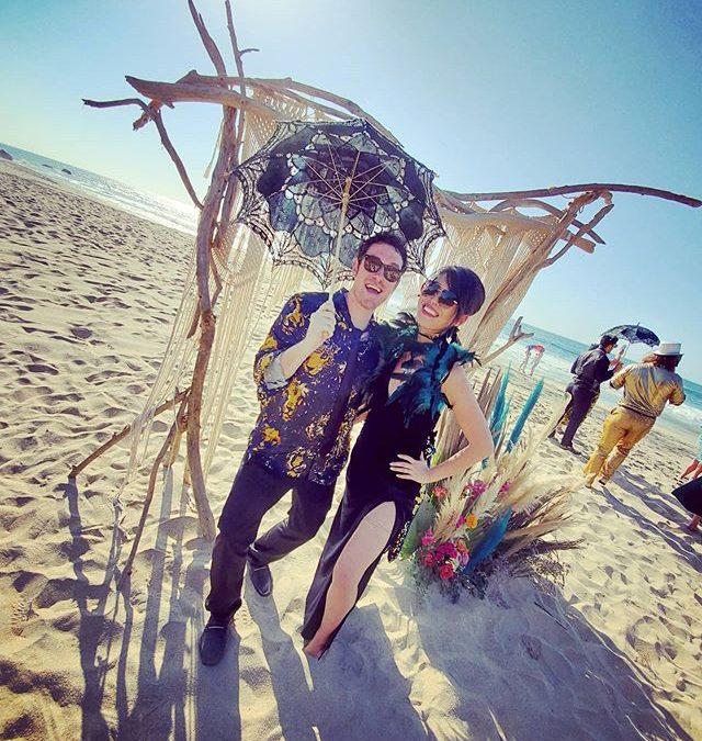 ❣Celebrating the sparkliest of couples con mi amor di mi vida🕺#foreverweddingdate #navarroamor #destinationwedding #beachwedding #sayulitawedding #sayulitamexico #weddinggueststyle (@CatEyesAndCandy on IG)