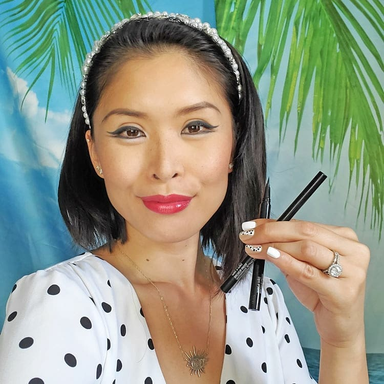 I've been using @wetnwildbeauty's new Breakup Proof Eyeliners during this summer heatwave and I am happy to report no runny, smudged eyeliner! I even tested it on an active and sunny day with a 4 mile skate and outdoor beach yoga session under the hot summer sun. The liquid liner's precision tip made it really easy to get sharp clean lines.  The retractable gel eyeliner was extremely pigmented and created stunning rich lines. Check them out, available at @ultabeauty, www.wetnwildbeauty.com , and through my links below: Liquid Eyeliner – https://bit.ly/2znrI5E Retractable Eyeliner – https://bit.ly/37iSiJr