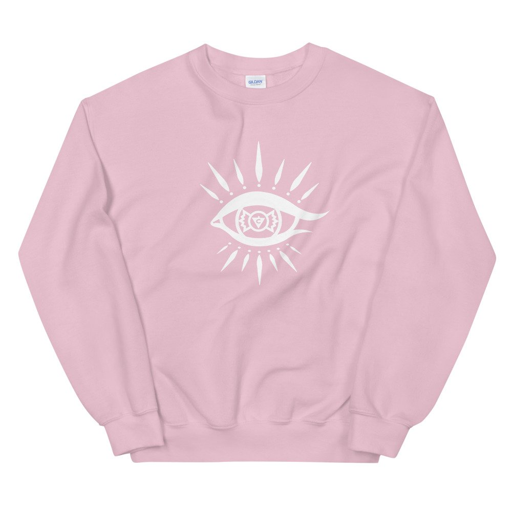 Pink Solar Eye Sweatshirt